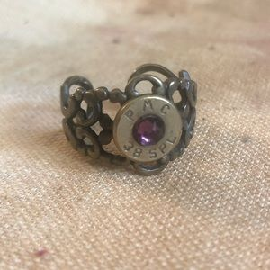 Pms ring with purple stone